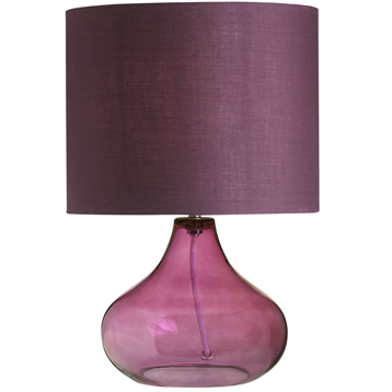 Harrow table lamp shade in aubergine from endon lighting wwsm harrow table lamp shade in aubergine mozeypictures